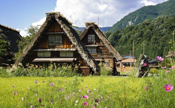 Япония.Горная деревня Сиракава